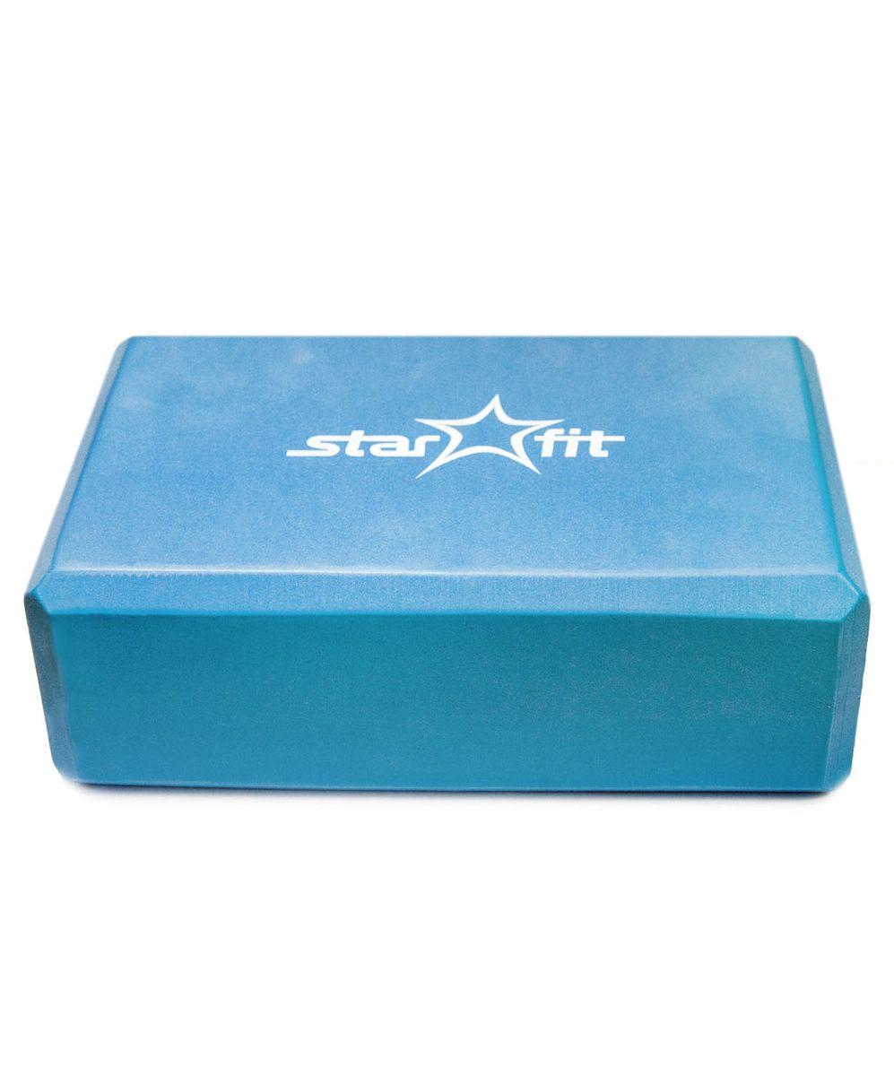 Блок для йоги Starfit, цвет: синий. FA-101УТ-00007216Блок для йоги Starfit- это опорный блокдля занятий йогой, обеспечивает надежную опору ификсациюв различных позах. Блок выполнен из ПВХ, имеет легкий незначительный вес. Его могут использовать как новички, так и те, кто достиг значительных результатов.