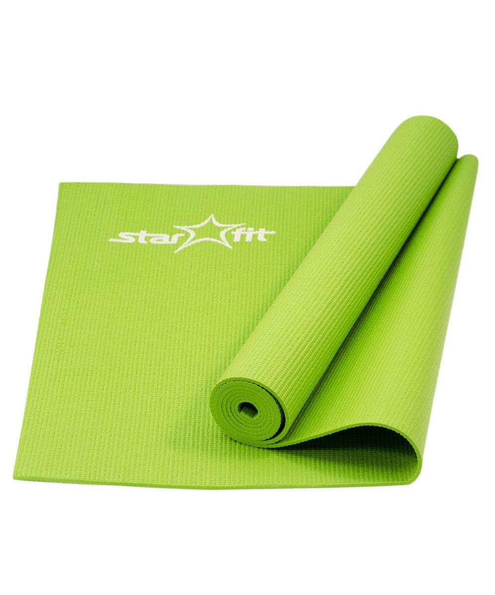 Коврик для йоги Starfit FM-101, цвет: зеленый, 173 x 61 x 0,4 смWRA523700Коврик для йоги Star Fit FM-101 - это незаменимый аксессуар для любого спортсмена как во время тренировки, так и во время пре-стретчинга (растяжки до тренировки) и стретчинга (растяжки после тренировки). Выполнен из высококачественного ПВХ. Коврик используется в фитнесе, йоге, функциональном тренинге. Его используют спортсмены различных видов спорта в своем тренировочном процессе.Предпочтительно использовать без обуви. Если в обуви, то с мягкой подошвой, чтобы избежать разрыва поверхности коврика.