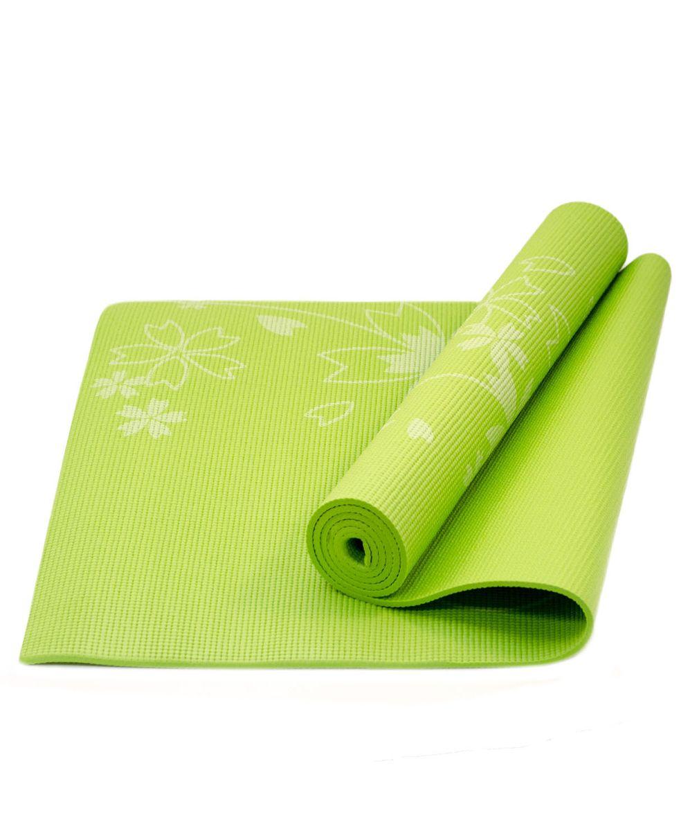 Коврик для йоги Starfit FM-102, цвет: зеленый, 173 х 61 х 0,4 смWRA523700Коврик для йоги Star Fit FM-102 - это незаменимый аксессуар для любого спортсмена как во время тренировки, так и во время пре-стретчинга (растяжки до тренировки) и стретчинга (растяжки после тренировки). Выполнен из высококачественного ПВХ и оформлен оригинальным рисунком в виде цветов. Коврик используется в фитнесе, йоге, функциональном тренинге. Его используют спортсмены различных видов спорта в своем тренировочном процессе.Предпочтительно использовать без обуви. Если в обуви, то с мягкой подошвой, чтобы избежать разрыва поверхности коврика.