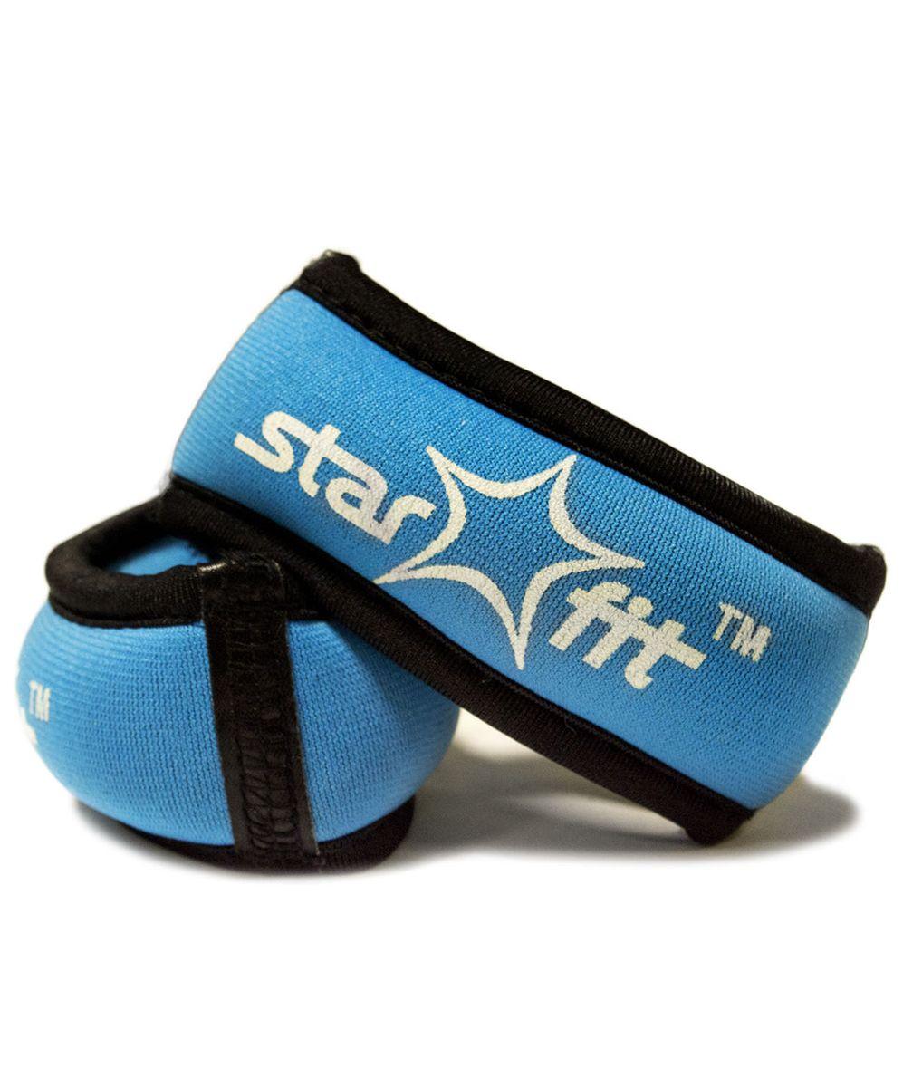 Утяжелители Star Fit, 0,25 кг, цвет: голубой, черный. WT-101Хот ШейперсУтяжелители Браслет специально предназначенные для занятий фитнесом и гимнастикой.
