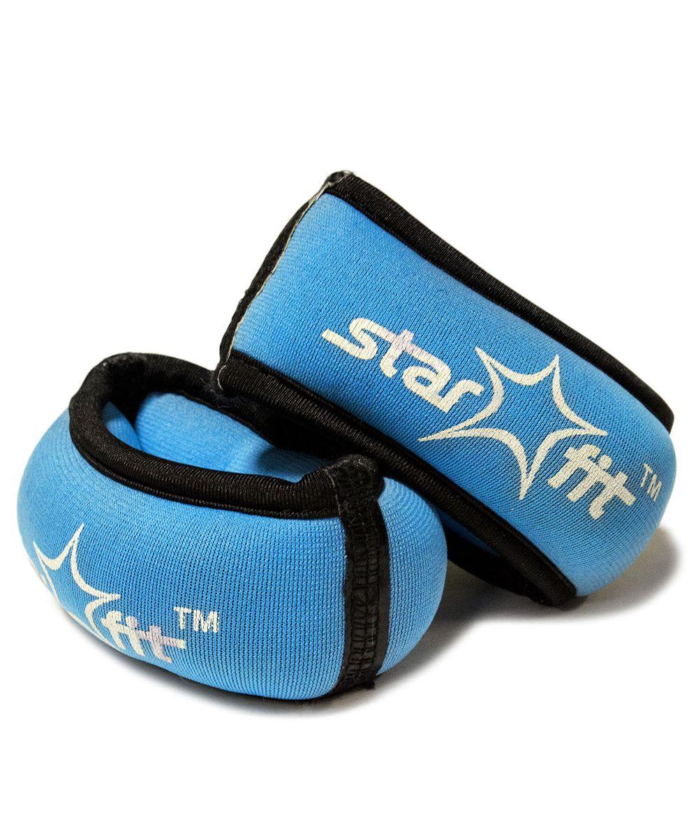 Утяжелители для рук Starfit WT-101, цвет: синий, черный, 0,5 кг, 2 штSF 0085WT-101 - это утяжелители на запястье с фиксацией на большой палец. Утяжелители помогут тренирующемуся быстрее сбросить лишний вес, добавить отягощения в тренировку мышц, будь это групповая тренировка, функциональный тренинг, бодибилдинг или спортивные единоборства. Утяжелители имеют компактный размер и не займут много места при хранении и переноске. Оригинальный современный дизайн, приятное цветовое оформление и качество самих утяжелителей будут несомненно радовать вас во время тренировок!Вес одного утяжелителя: 0,5 кг.Количество утяжелителей: 2 шт.