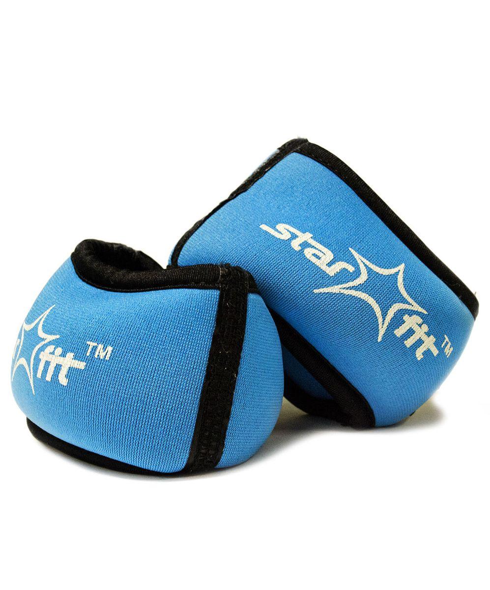 Утяжелители для рук Starfit WT-101, цвет: синий, черный, 0,75 кг, 2 штSF 0085WT-101 - это утяжелители на запястье с фиксацией на большой палец. Утяжелители помогут тренирующемуся быстрее сбросить лишний вес, добавить отягощения в тренировку мышц, будь это групповая тренировка, функциональный тренинг, бодибилдинг или спортивные единоборства. Утяжелители имеют компактный размер и не займут много места при хранении и переноске. Оригинальный современный дизайн, приятное цветовое оформление и качество самих утяжелителей будут несомненно радовать вас во время тренировок!Вес одного утяжелителя: 0,75 кг.Количество утяжелителей: 2 шт.