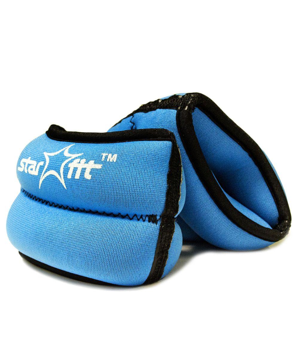 Утяжелители Starfit  WT-101 , цвет: синий, черный, 1 кг, 2 шт - Товары для фитнеса