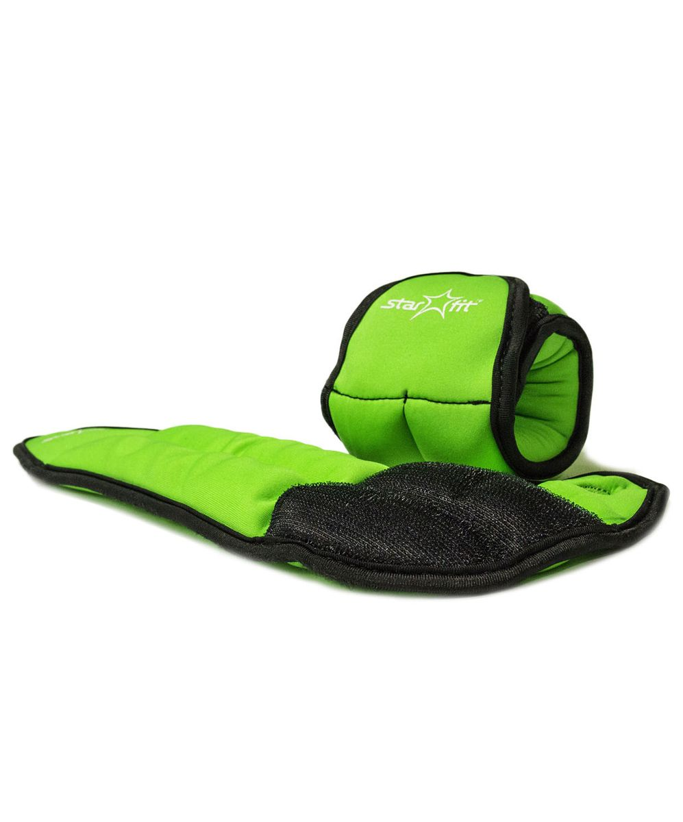 Утяжелители для рук Starfit  WT-201 , цвет: зеленый, черный, 0,75 кг, 2 шт - Фитнес