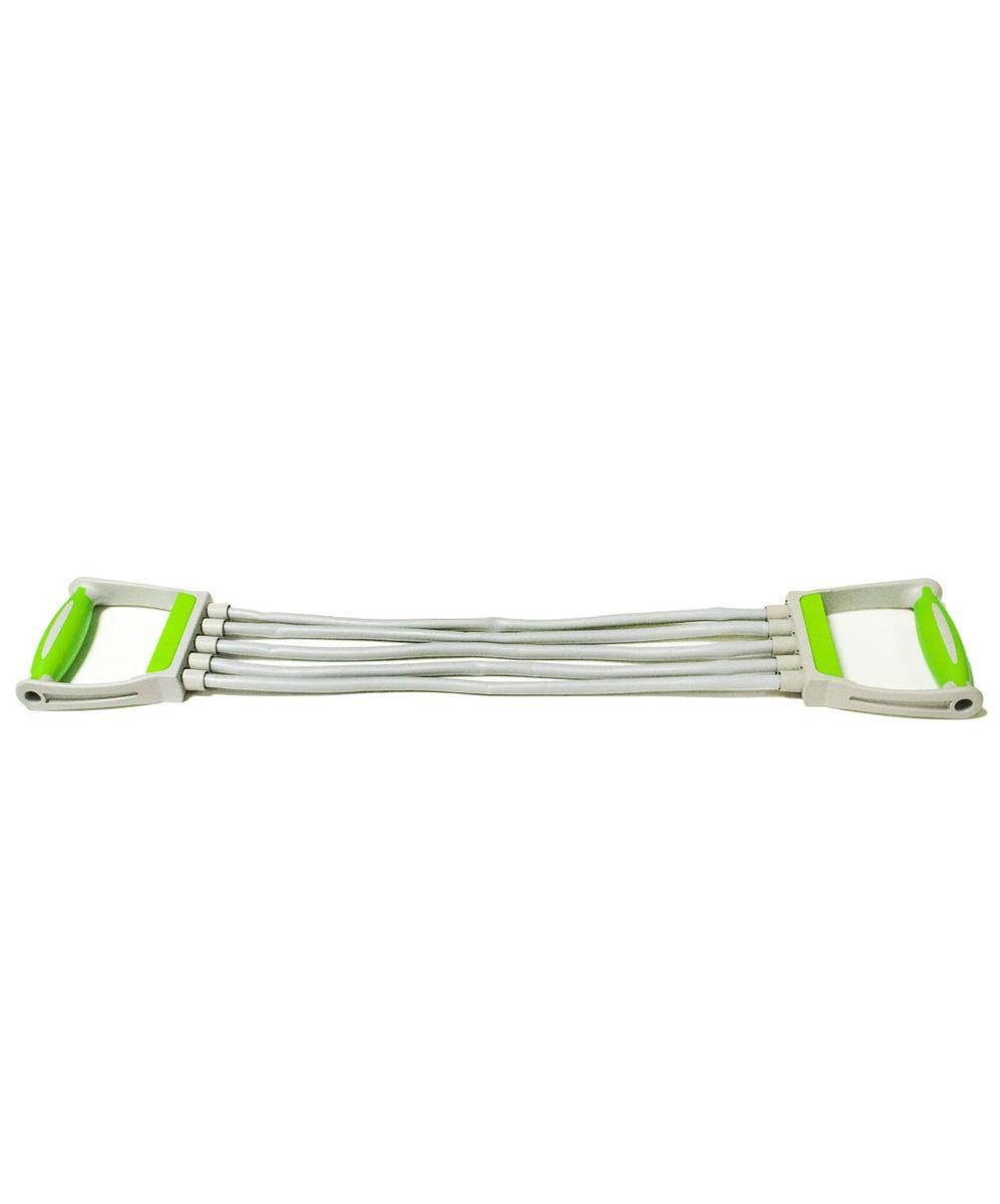 Эспандер плечевой Star Fit ES-102, 5 струн, цвет: зеленыйУТ-00007327Эспандер плечевой Star Fit ES-102 позволяет выполнять достаточно много упражнений на определенные группы мышц. Эспандер является альтернативой гантели. Он весьма компактный и легкий по весу. Эспандер можно использовать в домашних условиях: при занятиях физкультурой, для тренировки мышц в реабилитационный период после травм и операций на опорно-двигательном аппарате. Эспандеры развивают силу рук, плеч, спины. Упражнения с эспандерами способствуют сжиганию жировых клеток.