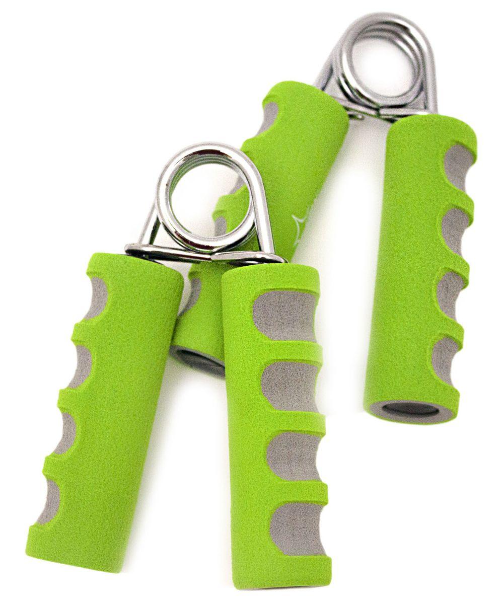 Эспандер кистевой Starfit ES-304, цвет: зеленый, серый, 2 шт0003954Кистевой эспандер ES-304 предназначен для укрепления и тренировки мышц пальцев, рук и запястий. Эспандер изготовлен из прочного металла. Ручки выполнены из мягкого неопрена. Пользуясь тренажером, вы сможете всегда держать ваши мышцы в тонусе. В набор входят два эспандера.