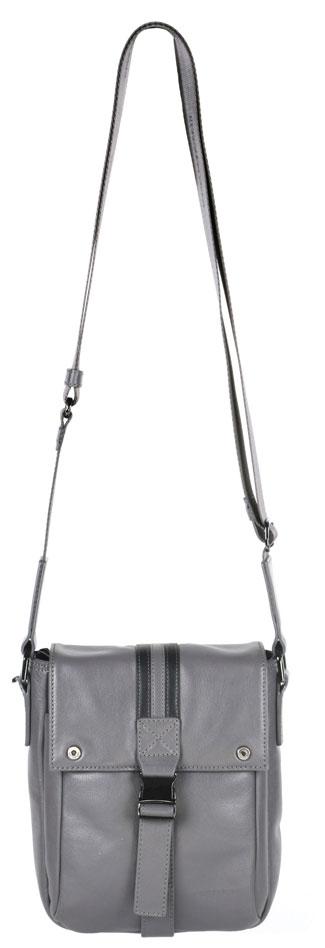 Сумка мужская Leo Ventoni, цвет: серый. 03002207BM8434-58AEСтильная мужская сумка Leo Ventoni изготовлена из натуральной кожи и застегивается на клапан с металлическим замком фастекс, декорированный прострочками и металлическими элементами с гравировкой логотипа бренда. Сумка имеет одно основное вместительное отделение. Модель содержит два прорезных кармана, врезной карман на молнии и два держателя для ручек. На передней стенке под клапаном расположен накладной открытый карман. На задней стенке расположен прорезной карман на застежке-молнии. Изделие оснащено несъемным текстильным плечевым ремнем, который регулируется по длине. Ремень выполнен с тиснением бренда. К сумке прилагается фирменный текстильный чехол для хранения. <brСумка Leo Ventoni поможет вам подчеркнуть чувство стиля и завершить выбранный образ.