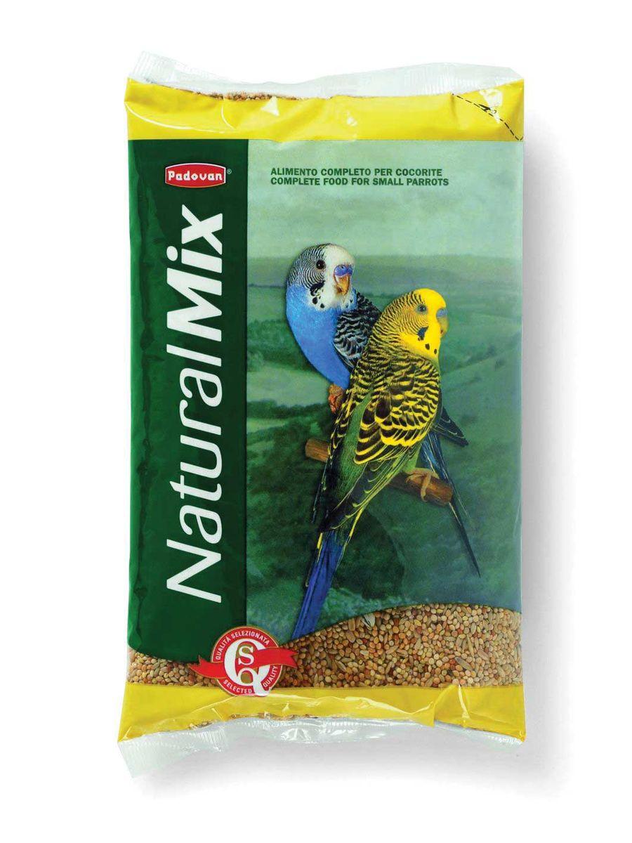 Корм Padovan Naturalmix Cocorite для волнистых попугаев, 1 кг0120710Корм Padovan Naturalmix Cocorite - смесь из просеянных и провеянных семян и зерен, отобранных и смешанных в пропорциях для круглогодичного питания волнистых попугаев.Состав: желтое, красное, белое просо 70%, лущёный овес 20%, канареечное семя 10%.Товар сертифицирован.