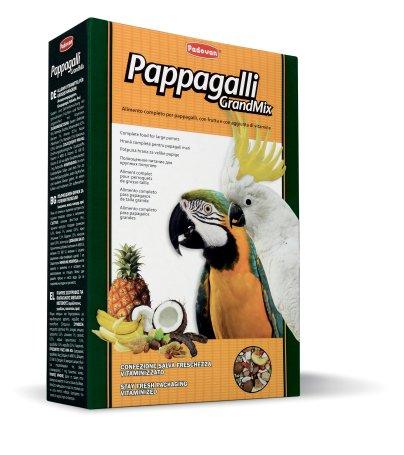 Корм Padovan Pappagalli Grandmix, для крупных попугаев, 600 г16824Padovan Pappagalli Grandmix - комплексный, высококачественный основной корм со смесью зерен и семян с сушеными фруктами, грецкими орехами и витаминными добавками. Корм предназначен для крупных попугаев (амазон, жако, какаду, ара). Товар сертифицирован.