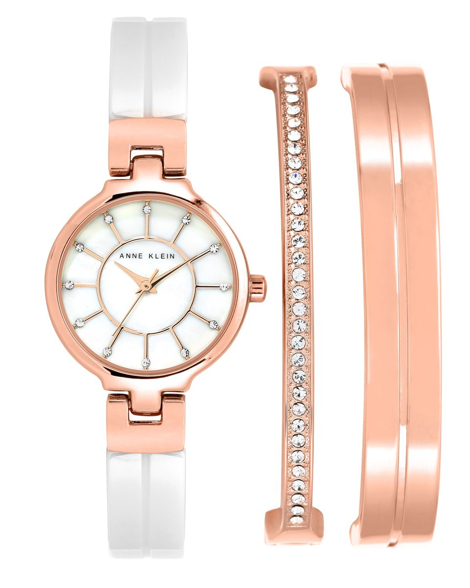 Наручные часы женские Anne Klein, цвет: золотистый, белый. 2048RGSTBM8434-58AEОригинальные и качественные часы Anne Klein