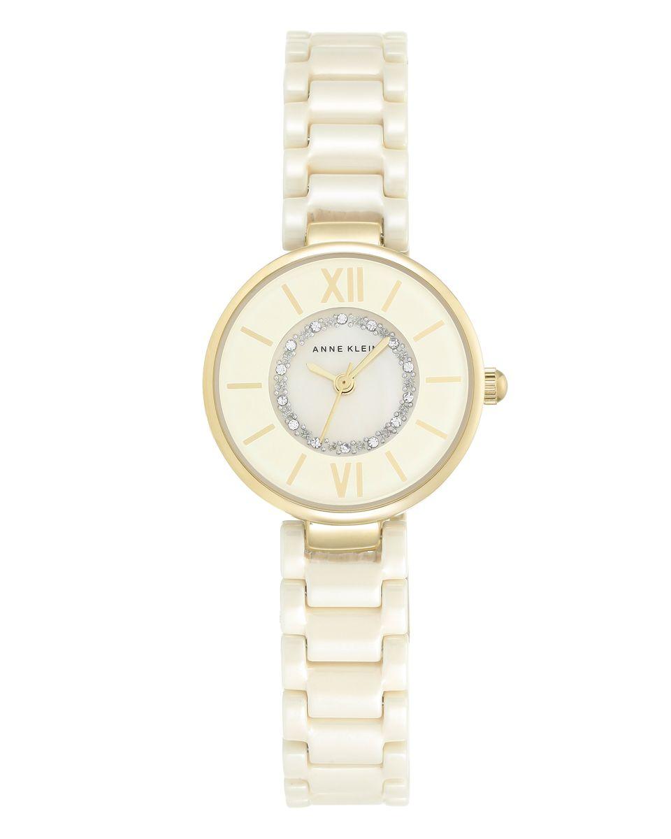 Наручные часы женские Anne Klein, цвет: золотистый, бежевый. 2178IVIVBM8434-58AEОригинальные и качественные часы Anne Klein