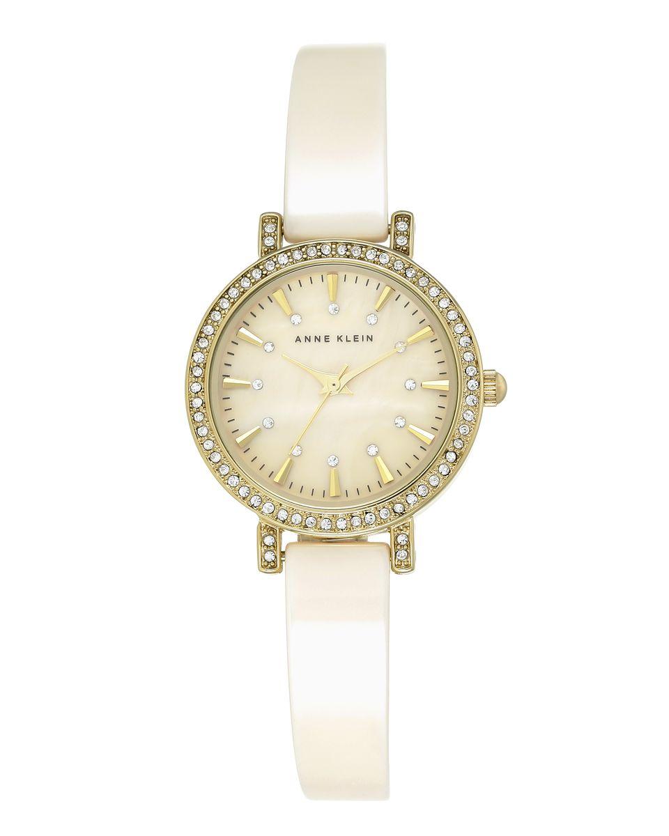 Наручные часы женские Anne Klein, цвет: золотистый, бежевый. 2180IVGBBM8434-58AEОригинальные и качественные часы Anne Klein