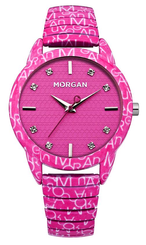 Наручные часы женские Morgan, цвет: розовый. M1171PBM8434-58AEТрехстрелочный механизм Miyota 2035; Сталь; Покрытие-эмаль розового цвета; Корпус 38x46мм; Минеральное стекло; Циферблат черного цвета;Чешские кристаллы; Металлический эластичный браслет с покрытием эмалью розового цвета;Водозащита 3 АТМ
