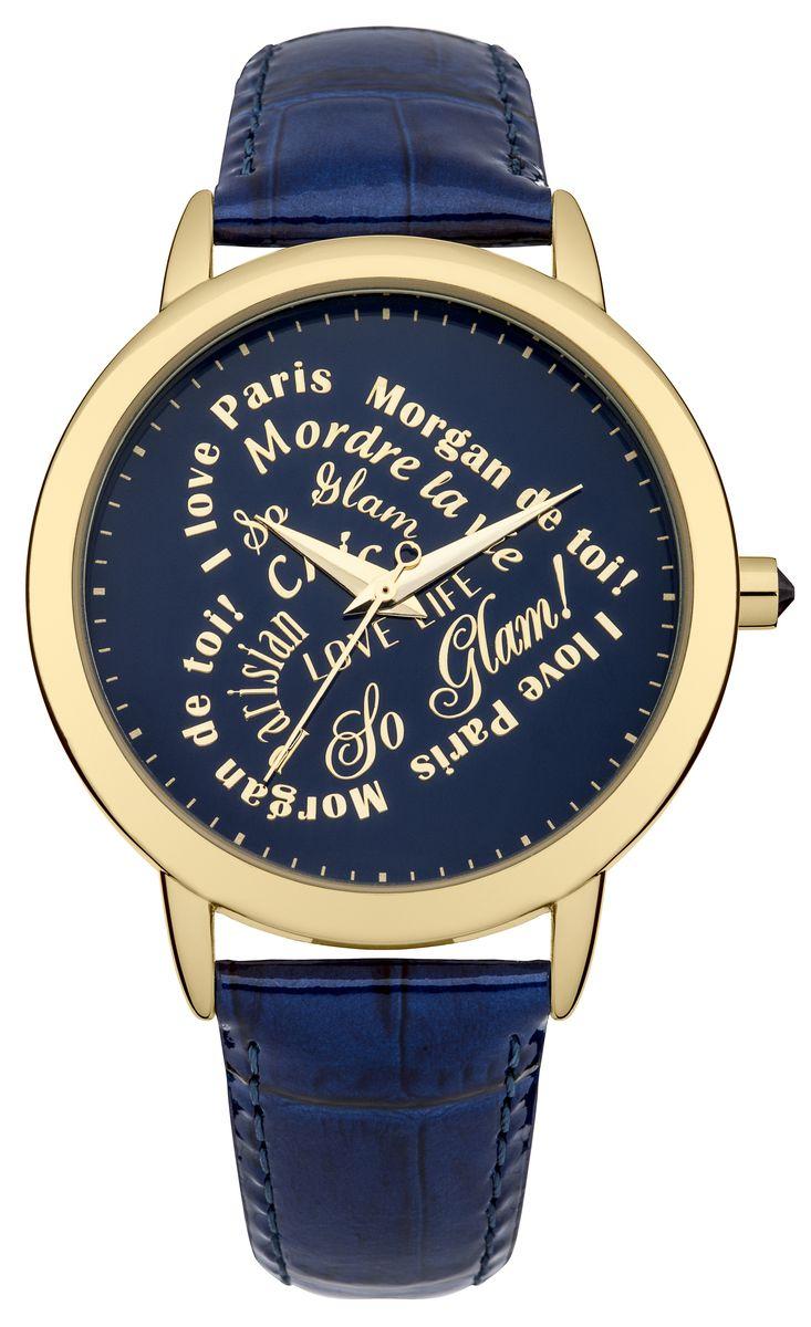Zakazat.ru: Наручные часы женские Morgan, цвет: золотой, синий. M1214UG