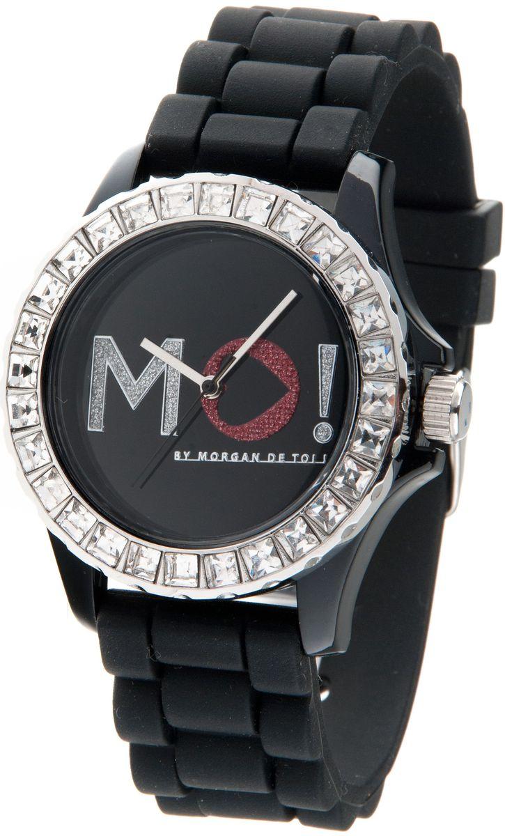 Наручные часы женские Morgan, цвет: черный. M1120BBM8434-58AEТрехстрелочный механизм; Сталь; Корпус пластик красного цвета; Минеральное стекло; Циферблат белого цвета; Чешские кристаллы; Браслет силикон; Водозащита 3 ATM