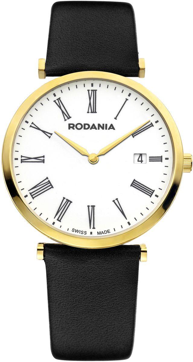 Наручные часы мужские Rodania, цвет: золотистый, черный. 2505632BM8434-58AEОригинальные и качественные часы Rodania