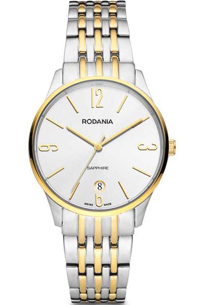 Наручные часы мужские Rodania, цвет: золотистый, серый. 2514280BM8434-58AEОригинальные и качественные часы Rodania