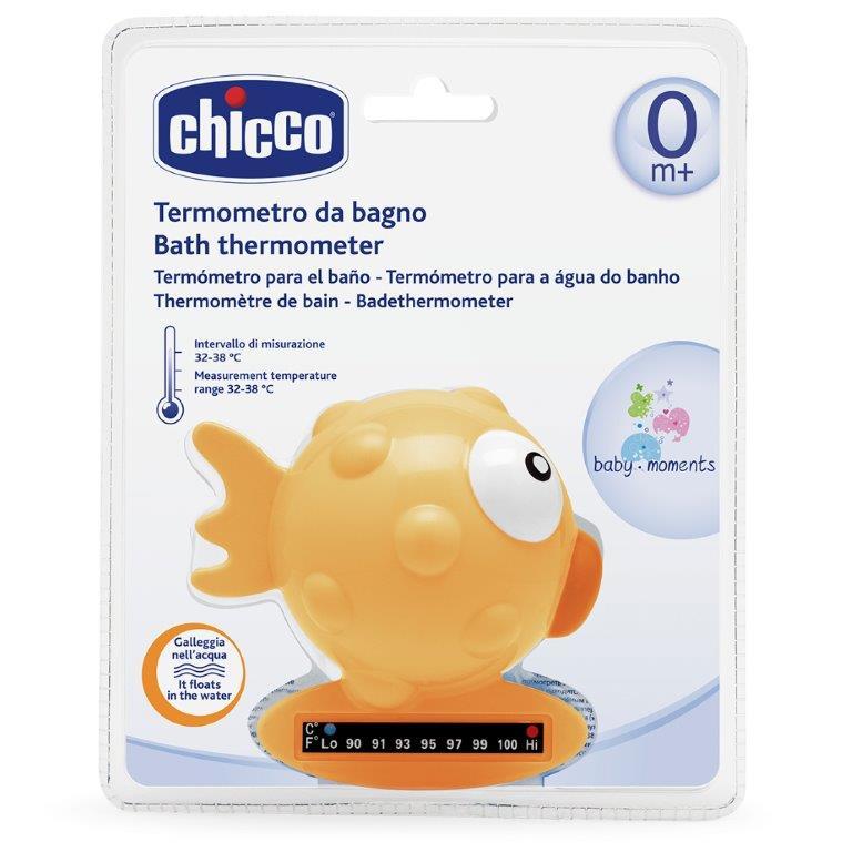 Chicco Термометр для ванны Рыба-Шар цвет желтый от 0 месяцев -  Термометры