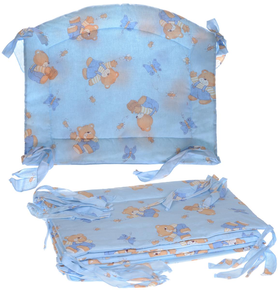 Фея Борт комбинированный 405 Мишка цвет голубой -  Бортики, бамперы