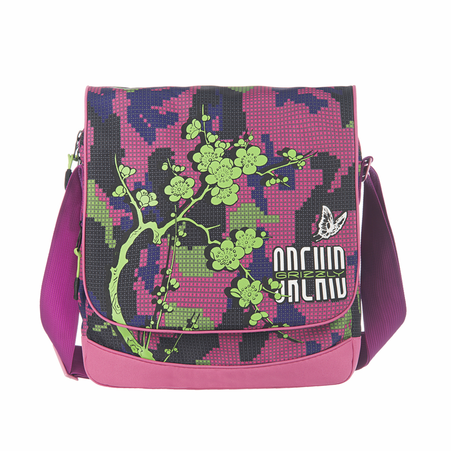 Сумка молодежная Grizzly, цвет: фуксия, 15 л. MD-659-2/3101225Молодежная сумка Grizzly имеет два отделения, клапан на липучках, два передних кармана, задний карман на молнии, внутренний карман на молнии, регулируемый плечевой ремень.
