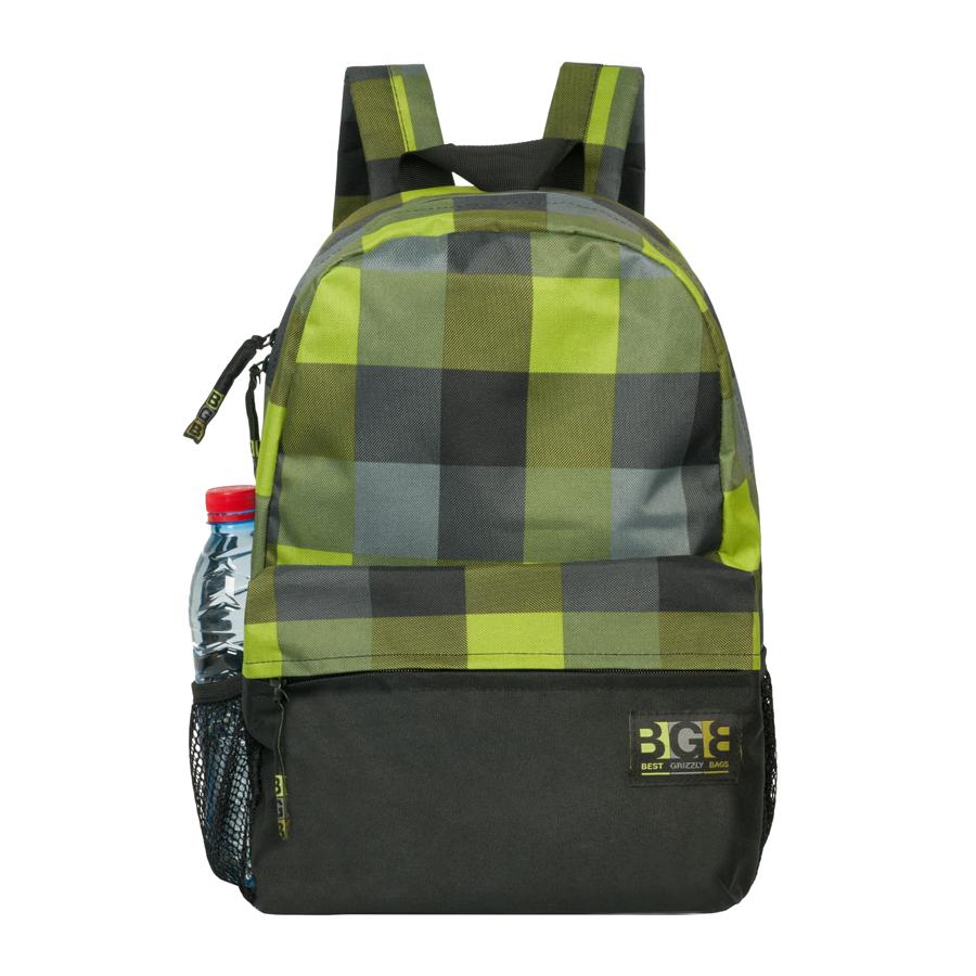Рюкзак городской Grizzly, цвет: темно-зеленый, салатовый, 24 л. RD-644-1/1A-B86-05-CРюкзак городской Grizzl выполнен из высококачественного полиэстера и оформлен оригинальным принтом в клетку. Рюкзак имеет ручку-петлю для подвешивания и две удобные лямки, длина которых регулируется с помощью пряжек. На лицевой стороне расположено одно основное отделение и накладной карман на молнии. Рюкзак оснащен двумя боковыми карманами из сетки. Укрепленная спинка оснащена карманом быстрого доступа на потайной застежке-молнии.