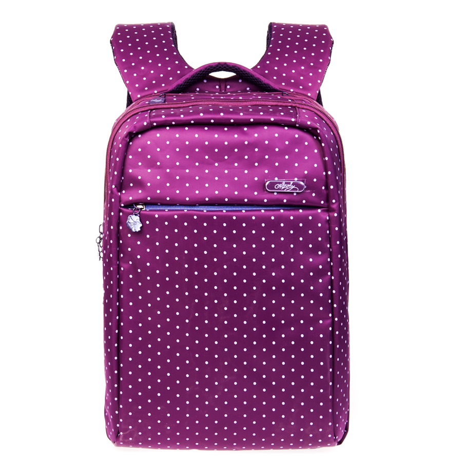 Рюкзак городской женский Grizzly, цвет: фиолетовый, 21 л. RD-649-1/3 чемодан grizzly цвет фиолетовый черный 40 л lt 595 20 3