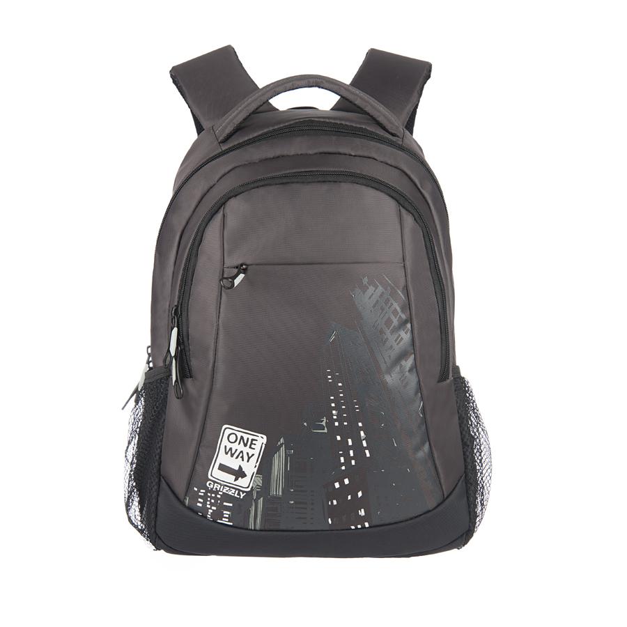 Рюкзак городской Grizzly, цвет: серый, белый, 22 л. RU-518-4/8RivaCase 8460 blackРюкзак молодежный, два отделения, карман на молнии на передней стенке, боковые карманы из сетки, внутренний подвесной карман на молнии, внутренний составной пенал-органайзер, ортопедическая спинка, дополнительная ручка-петля, мягкая укрепленная ручка, нагрудная стяжка-фиксатор, укрепленные лямки