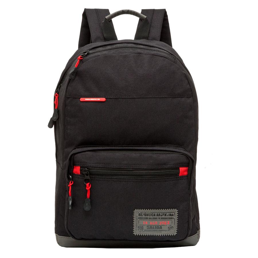 Рюкзак городской Grizzly, цвет: черный, 25 л. RU-614-2/3 чемодан grizzly цвет фиолетовый черный 40 л lt 595 20 3