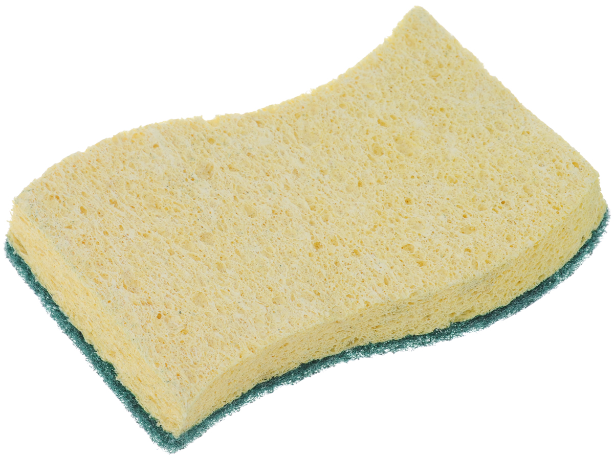Губка для мытья посуды La Chista, цвет: желтый, зеленый, 11,5 х 7,5 х 2 смVCA-00Губка La Chista, выполненная из целлюлозы и фибры, предназначена для уборки и мытья посуды. Она отлично впитывает влагу, удаляет жир, грязь и пригоревшую пищу. Губка оснащена чистящим слоем.