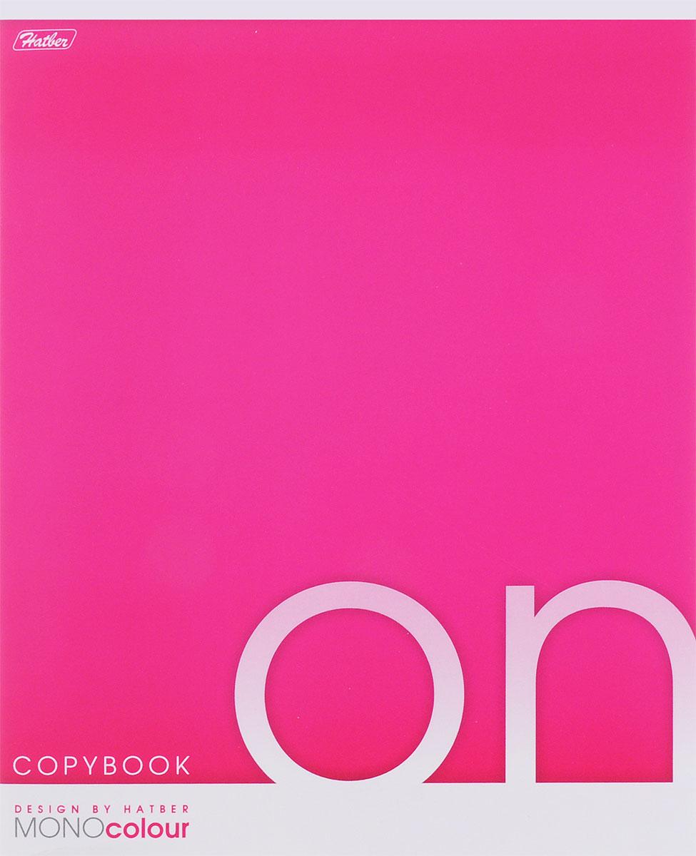 Hatber Тетрадь Mono Colour 96 листов в клетку цвет розовый72523WDТетрадь Hatber отлично подойдет для занятий как школьнице, так и студентке.Яркая обложка розового цвета, выполненная из плотного мелованного картона, позволит сохранить тетрадь в аккуратном состоянии на протяжении всего времени использования.Внутренний блок тетради, соединенный скрепками, состоит из 96 листов белой бумаги в голубую клетку с полями.