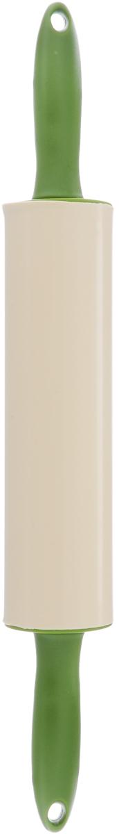 Скалка Calve, с вращающимися ручками, длина 39,5 см20097Скалка Calve изготовлена из высококачественного пластика и силикона. Вращающиеся ручки позволяют прикладывать меньше усилий при раскатывании теста и делают этот процесс намного приятнее и легче. Такая скалка станет незаменимой помощницей в приготовлении выпечки. Можно мыть в посудомоечной машине. Длина скалки: 39,5 см. Диаметр скалки: 5,5 см. Длина ручек: 9,5 см.
