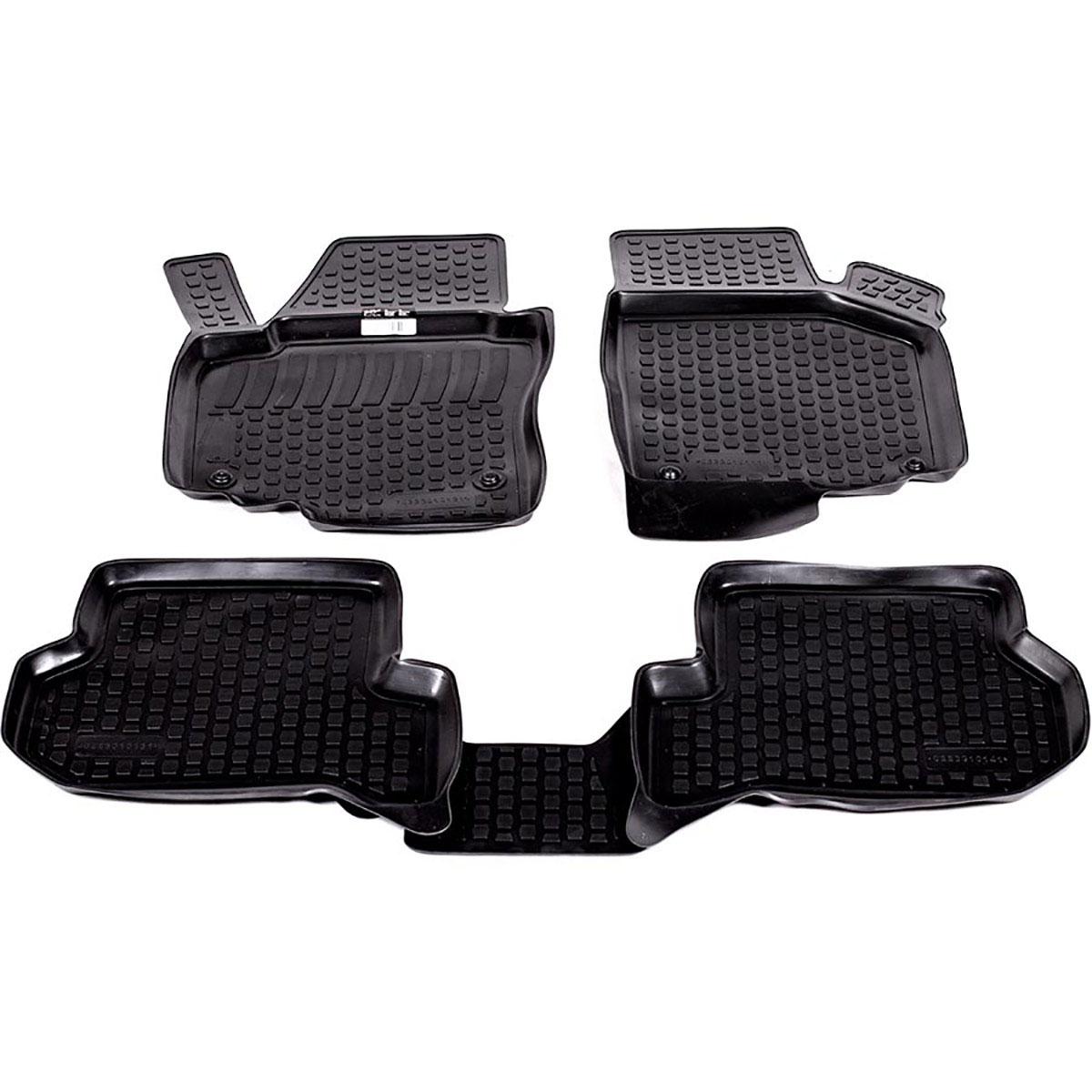 Коврики в салон автомобиля L.Locker, для Seat Altea Freetrack (07-), 4 шт0205060101Коврики L.Locker производятся индивидуально для каждой модели автомобиля из современного и экологически чистого материала. Изделия точно повторяют геометрию пола автомобиля, имеют высокий борт, обладают повышенной износоустойчивостью, антискользящими свойствами, лишены резкого запаха и сохраняют свои потребительские свойства в широком диапазоне температур (от -50°С до +80°С). Рисунок ковриков специально спроектирован для уменьшения скольжения ног водителя и имеет достаточную глубину, препятствующую свободному перемещению жидкости и грязи на поверхности. Одновременно с этим рисунок не создает дискомфорта при вождении автомобиля. Водительский ковер с предустановленными креплениями фиксируется на штатные места в полу салона автомобиля. Новая технология системы креплений герметична, не дает влаге и грязи проникать внутрь через крепеж на обшивку пола.