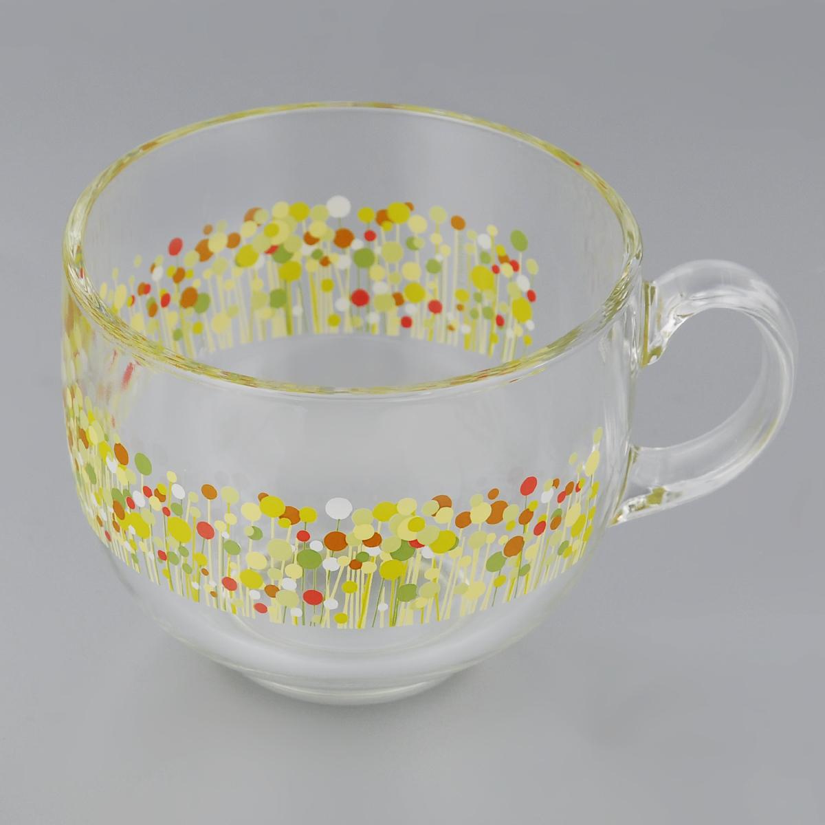 Кружка Luminarc Flowerfield. Джамбо, 500 мл95339Кружка Luminarc Flowerfield. Джамбо изготовлена из ударопрочного стекла. Такая кружка прекрасно подойдет для горячих и холодных напитков. Она дополнит коллекцию вашей кухонной посуды и будет служить долгие годы. Диаметр кружки (по верхнему краю): 10,5 см.