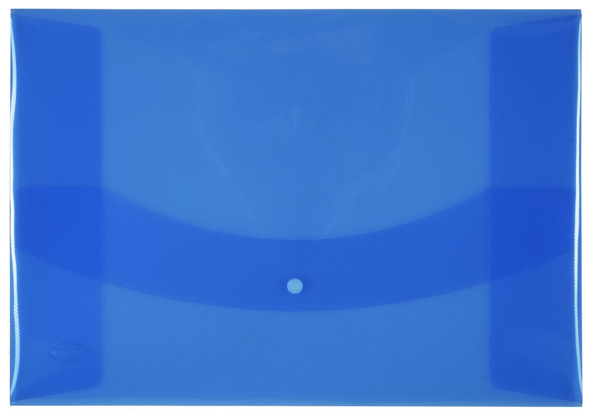 Centrum Папка-конверт на кнопке цвет голубой80626СПапка-конверт на кнопке Centrum - это удобный и функциональный офисный инструмент, предназначенный для хранения и транспортировки рабочих бумаг и документов формата А3. Папка изготовлена из полупрозрачного пластика, закрывается клапаном на кнопке.Папка-конверт - это незаменимый атрибут для студента, школьника, офисного работника. Такая папка надежно сохранит ваши документы и сбережет их от повреждений, пыли и влаги.