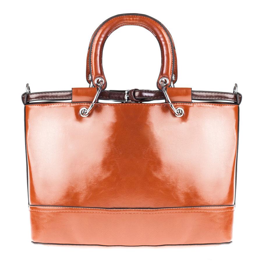 Сумка женская Orsa Oro, цвет: коричневый. D-128/10967-637T-17s-01-42Стильная женская сумка Orsa Oro выполнена из искусственной кожи, декорирована металлической фурнитурой.Изделие содержит одно отделение, которое закрывается на молнию. Внутри расположены четыре накладных кармашка для мелочей, один из которых закрывается на застежку-молнию, и врезной карман на молнии. Задняя сторона изделия дополнена врезным карманом на молнии. Сумка оснащена удобными съемными ручками и съемным плечевым ремнем регулируемой длины. Дно сумки дополнено металлическими ножками, которые защитят изделие от преждевременных повреждений.Оригинальный аксессуар позволит вам завершить образ и быть неотразимой.