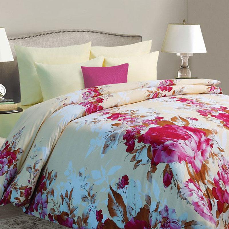 Комплект белья Mona Liza Sanrayz, семейный, наволочки 50х70, цвет: светло-бежевый, розовый391602Комплект белья Mona Liza Sanrayz, выполненный из ткани батист (100% хлопок), состоит из двух пододеяльников, простыни и двух наволочек. Изделия оформлены ярким цветочным принтом. Батист - тонкая, легкая натуральная ткань полотняного переплетения. Батист, несомненно, является одной из самых аристократичных и совершенных тканей. Он отличается нежностью, трепетной утонченностью и изысканностью. Ткань с незначительной сменяемостью, хорошо сохраняющая цвет при стирке, легкая, с прекрасными гигиеническими показателями.