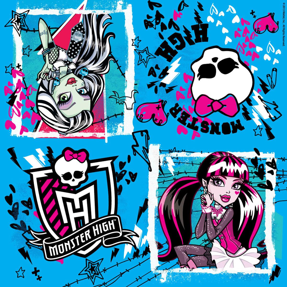 Monster High Салфетки цвет голубой 20 шт