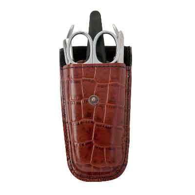 Zinger Маникюрный набор zMs Z-2 SM-SFAS-501/RМан. набор 5 предметов (ножницы кутикульные, кусачки маникюрные, пилка алмазная, металлический двусторонний шабер , пинцет). Чехол натуральная кожа. Цвет инструментов - матовое серебро. Оригинальня фирменная коробка