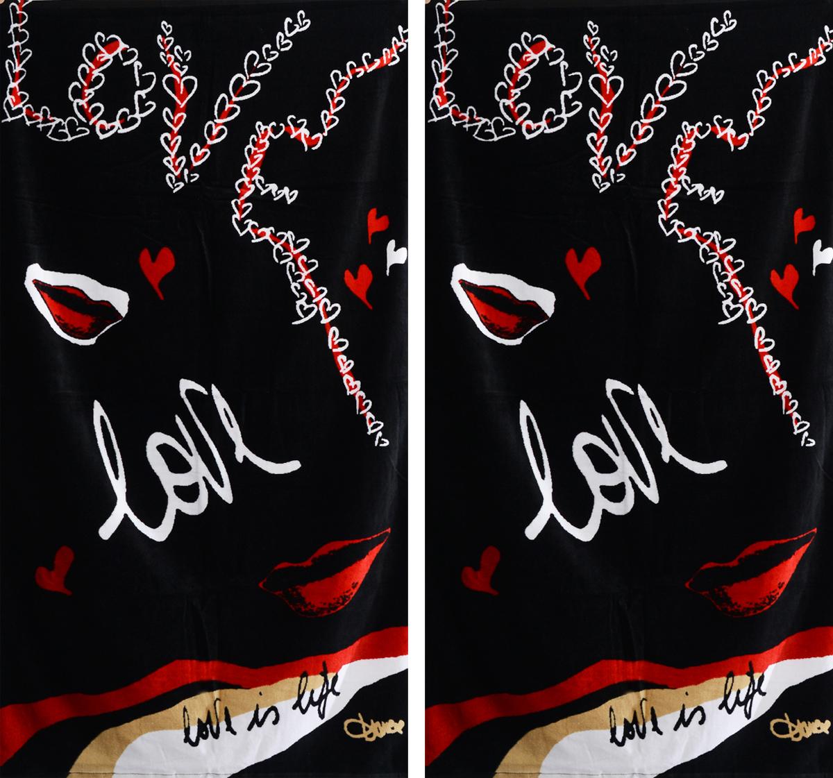 Набор махровых полотенец Коллекция Love is Life, 70 х 137 см, 2 шт4774Набор Коллекция Love is Life состоит из двух махровых полотенец, выполненных из натурального 100% хлопка. Изделия отлично впитывают влагу, быстро сохнут, сохраняют яркость цвета и не теряют формы даже после многократных стирок.Полотенца Коллекция Love is Life очень практичны и неприхотливы в уходе. Комплектация: 2 шт.