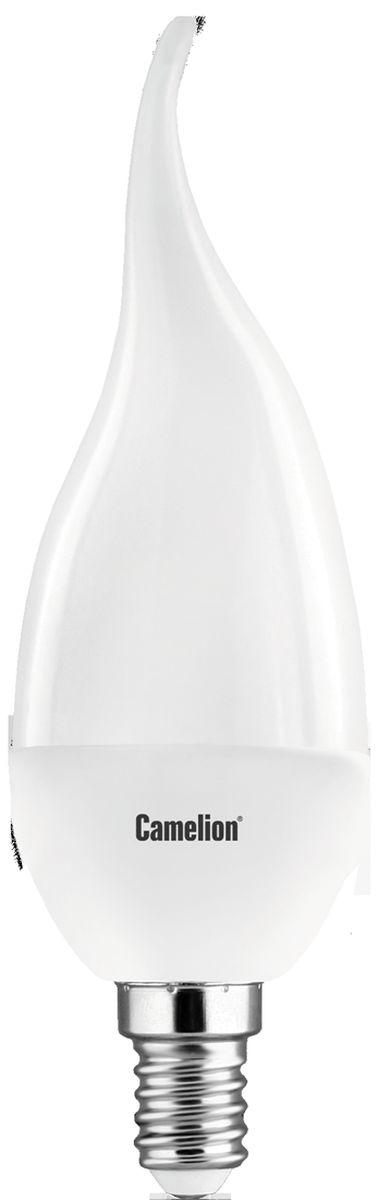 Лампа светодиодная Camelion, теплый свет, цоколь Е14, 7W. 12075C0038550Светодиодная лампа Camelion - это инновационное решение, разработанное на основе новейших светодиодных технологий (LED) для эффективной замены любых видов галогенных или обыкновенных ламп накаливания во всех типах осветительных приборов. Она хорошо подойдет для создания рабочей атмосферы в производственных и общественных зданиях, спортивных и торговых залах, в офисах и учреждениях. Лампа не содержит ртути и других вредных веществ, экологически безопасна и не требует утилизации, не выделяет при работе ультрафиолетовое и инфракрасное излучение. Напряжение: 220-240В/50 Гц.Индекс цветопередачи (Ra): 77+.Угол светового пучка: 240°.Срок службы: 30000 ч.