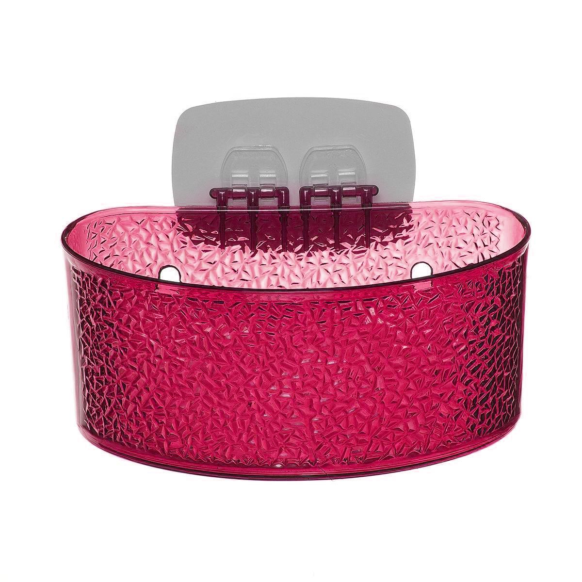 Полка для ванной комнаты Fresh Code, на липкой основе, цвет: малиновый, 19 х 10 х 10 см41622Полка для ванной комнаты Fresh Code выполнена из ABS пластика. Крепление на липкой основе многократного использования идеально подходит для гладкой поверхности. Полка поможет создать настроение вашей ванной комнаты. Подходит для всех типов гладких поверхностей. Максимальная нагрузка 3 кг.