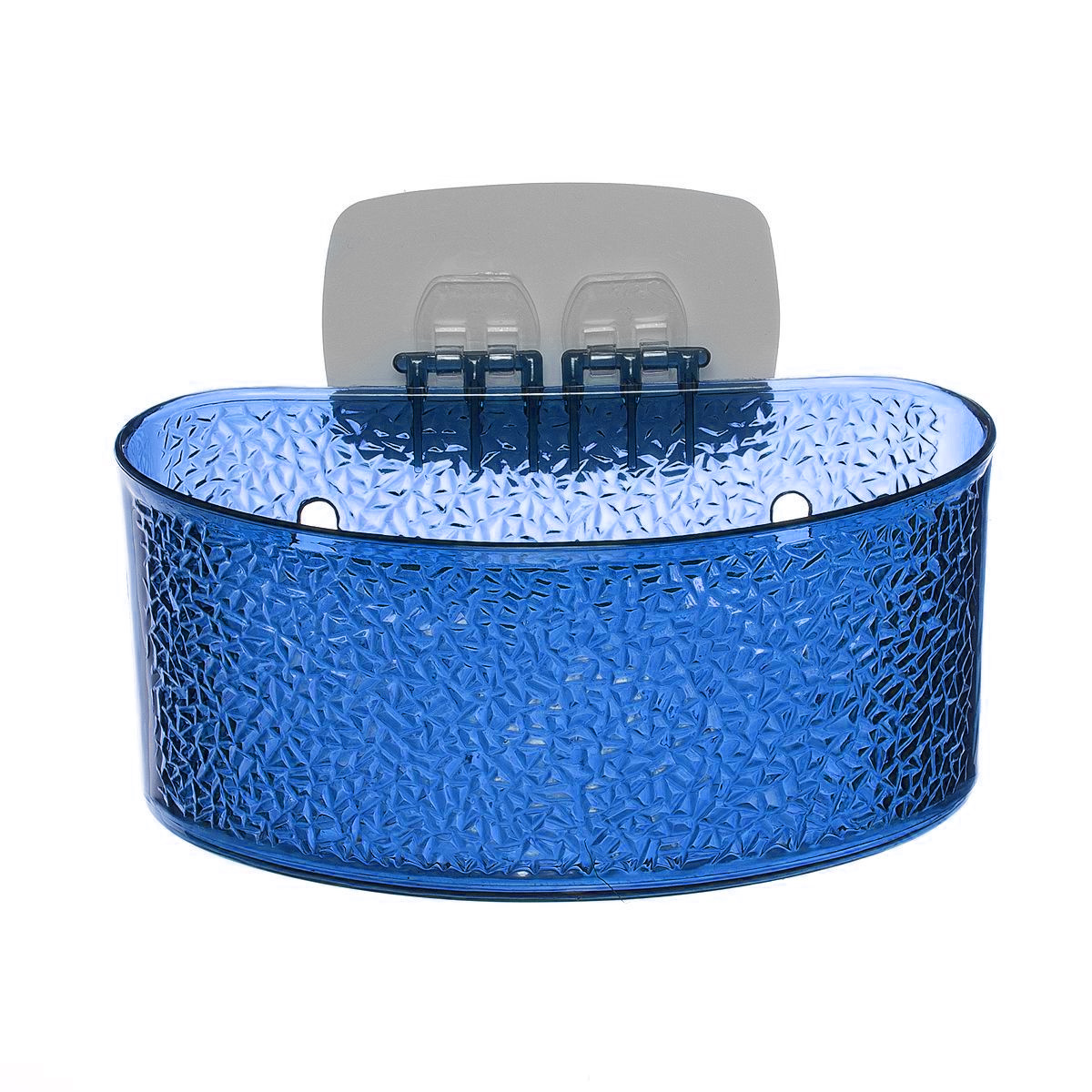 Полка для ванной комнаты Fresh Code, на липкой основе, цвет: синий, 19 х 10 х 10 см391602Полка для ванной комнаты Fresh Code выполнена из ABS пластика. Крепление на липкой основе многократного использования идеально подходит для гладкой поверхности. Полка поможет создать настроение вашей ванной комнаты. Подходит для всех типов гладких поверхностей. Максимальная нагрузка 3 кг.