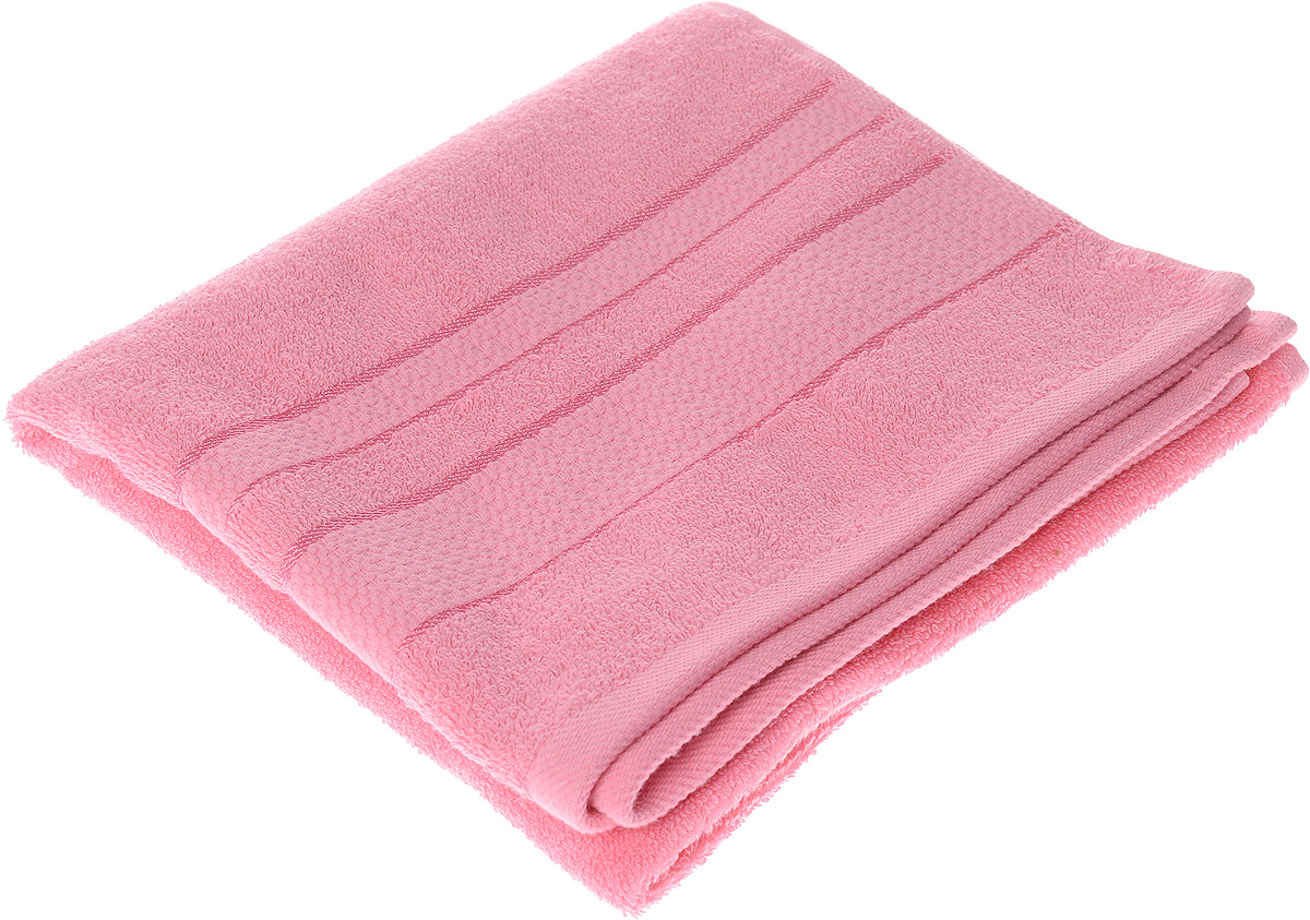 Полотенце махровое Aisha Home Textile Классика, цвет: розовый, 50 х 90 смCLP446Полотенце Aisha Home Textile Классика выполнено из натуральной махровой ткани (100% хлопок). Изделие отлично впитывает влагу, быстро сохнет, сохраняет яркость цвета и не теряет форму даже после многократных стирок. Полотенце очень практично и неприхотливо в уходе. Оно станет достойным выбором для вас и приятным подарком для ваших близких.