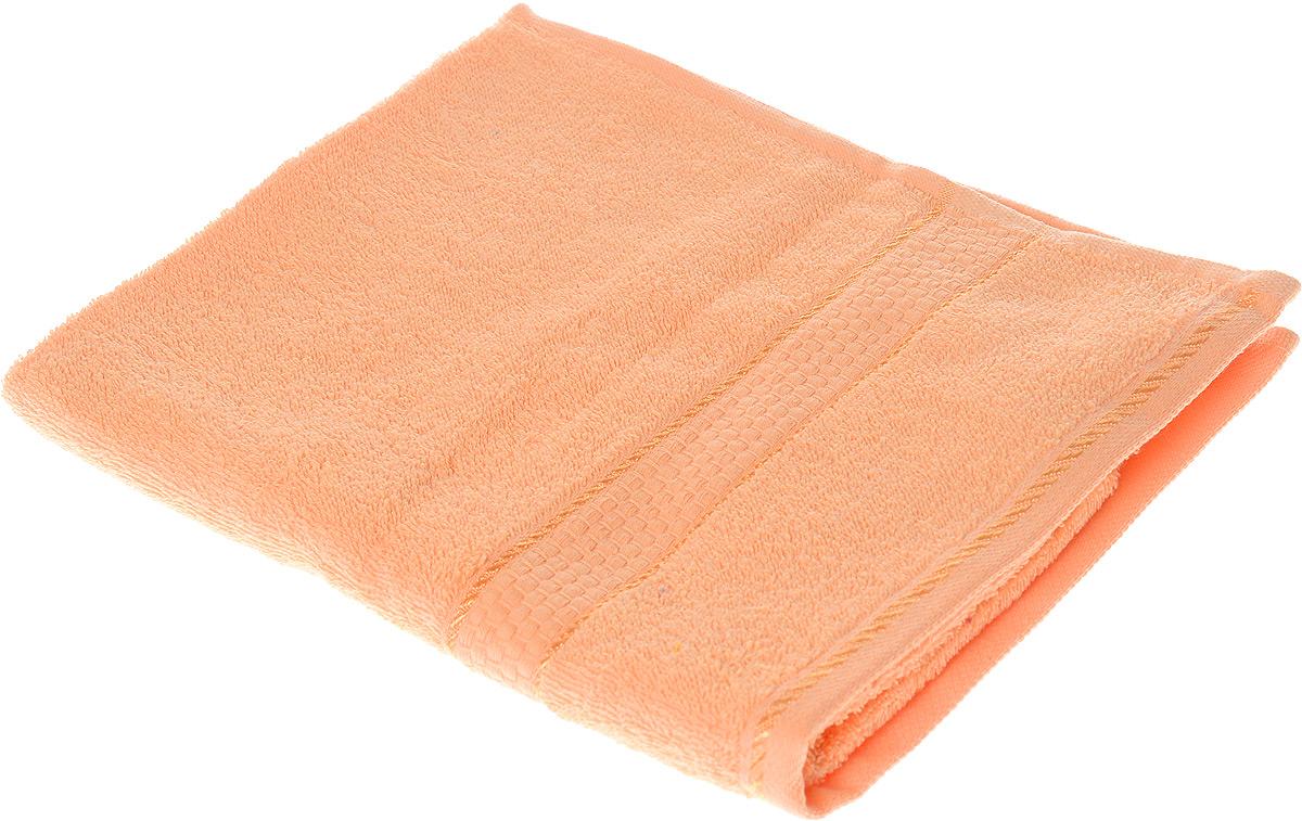 Полотенце махровое Aisha Home Textile Соты, цвет: персиковый, 50 х 90 смRSP-202SПолотенце Aisha Home Textile Соты выполнено из натуральной махровой ткани (100% хлопок). Изделие отлично впитывает влагу, быстро сохнет, сохраняет яркость цвета и не теряет форму даже после многократных стирок. Полотенце очень практично и неприхотливо в уходе. Оно станет достойным выбором для вас и приятным подарком для ваших близких.