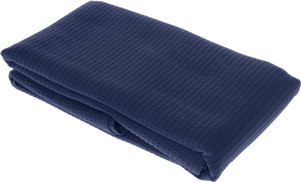 Полотенце-простыня для бани и сауны Банные штучки, цвет: темно-синий, 80 х 150 см68/5/3Вафельное полотенце-простыня для бани и сауны Банные штучки изготовлено из натурального хлопка. В парилке можно лежать на нем, после душа вытираться, а во время отдыха использовать как удобную накидку. Такое полотенце-простыня идеально подойдет каждому любителю бани и сауны.