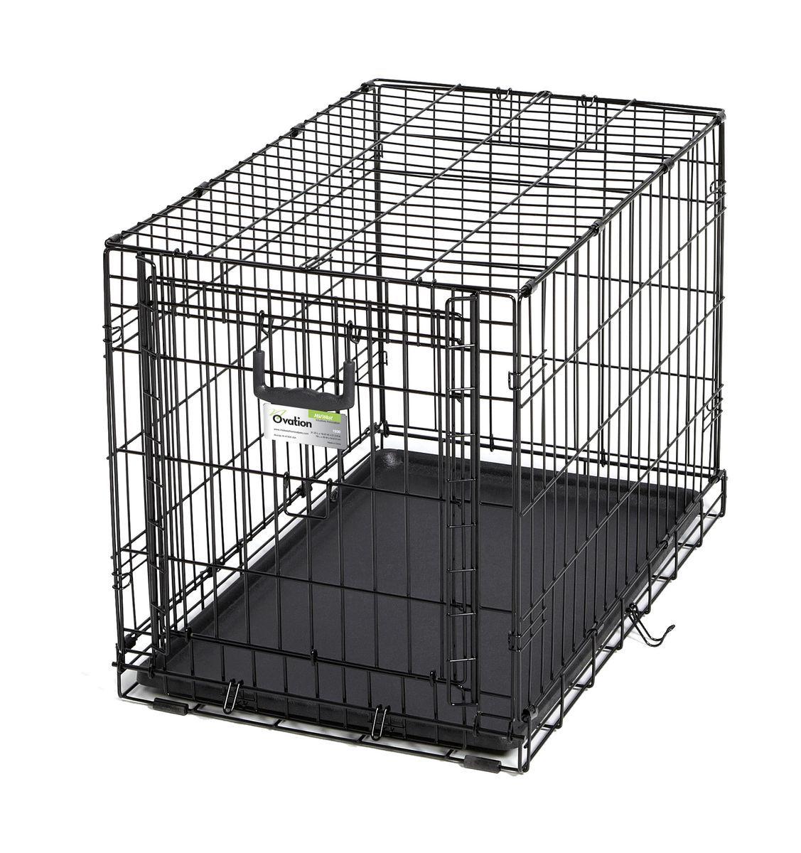 Клетка Midwest Ovation, 1 дверь рельсовая, 79 x 49 x 54,6 смK-T1-1_салатовыйКлетка Midwest Ovation разработана специально для транспортировки маленьких и средних собак. Закругленная угловая защита обеспечивает безопасность питомцам и людям. Клетка из нержавеющей стали оснащена: - одной рельсовой дверкой (открывается вверх); - безопасным двойным замком (задвижка закрывает и снаружи и внутри); - прочным пластиковым поддоном, который не повреждает поверхность, на которой размещается; - разделяющей панелью, обеспечивающей создание универсальных отсеков; - качественными ручками для переноски питомца.Размер клетки (ДхШхВ): 79 x 49 x 54,6 см. Вес конструкции: 8 кг.Товар сертифицирован.