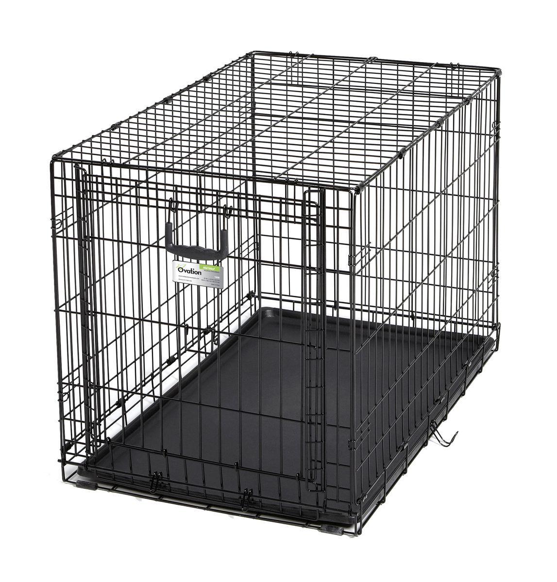 Клетка Midwest Ovation, 1 дверь рельсовая, 94,6 x 58,4 x 63,5 см548DRКлетка Midwest Ovation разработана специально для транспортировки средних и крупных собак. Закругленная угловая защита обеспечивает безопасность питомцам и людям. Клетка из нержавеющей стали оснащена: - одной рельсовой дверкой (открывается вверх); - безопасным двойным замком (задвижка закрывает и снаружи и внутри); - прочным пластиковым поддоном, который не повреждает поверхность, на которой размещается; - разделяющей панелью, обеспечивающей создание универсальных отсеков; - качественными ручками для переноски питомца.Размер клетки (ДхШхВ): 94,6 x 58,4 x 63,5 см. Вес конструкции: 10,8 кг.Товар сертифицирован.
