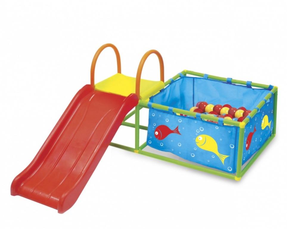 Bradex Детская горка Семицветик и бассейн с яркими шариками