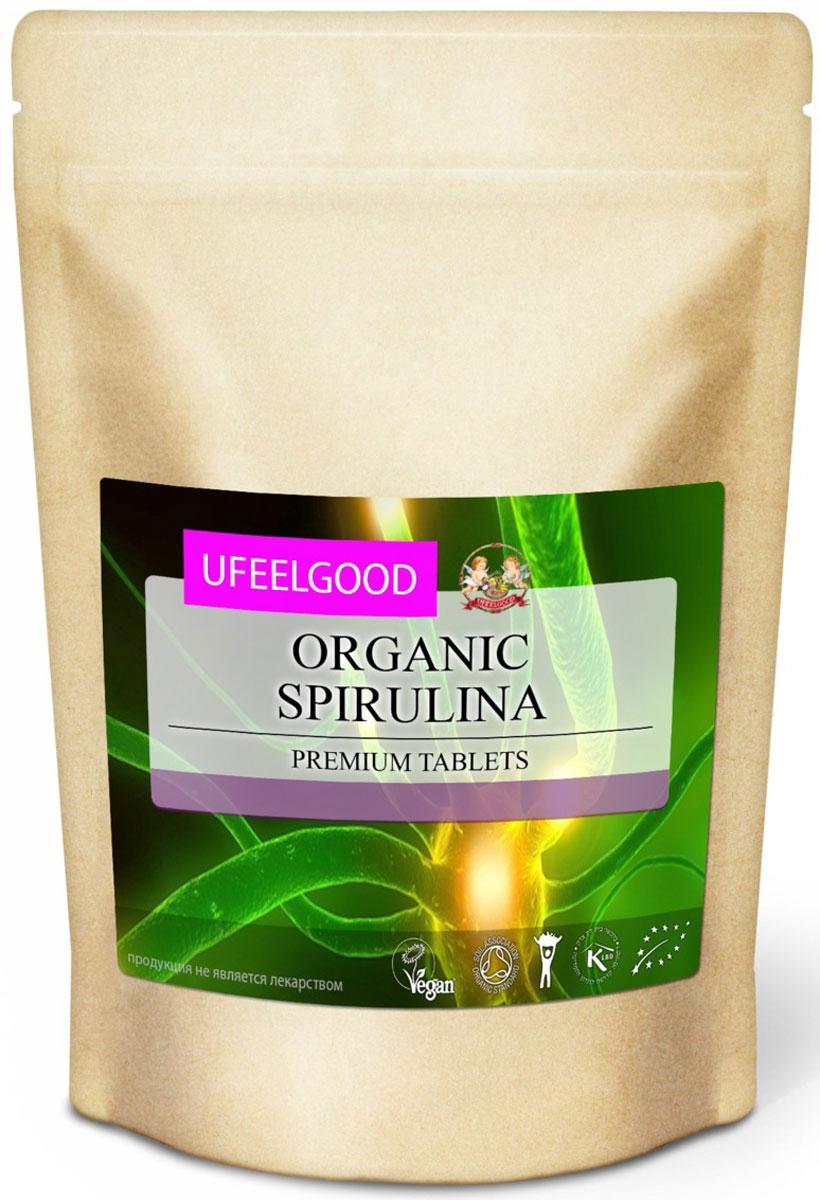 UFEELGOOD Organic Spirulina Premium Tablets органическая спирулина в таблетках, 200 г122Порошок из водорослей спирулины очень питателен и полезен, он состоит из белка почти на 70%. Кроме этого, в нём обнаружили невероятное количество микроэлементов, которые необходимы человеку. Спирулина содержит отсутствующие в человеческом организме аминокислоты, которые мы должны получать с пищей. В ней найдено существенное количество калия, цинка, селена, кальция, железа и витаминов.Порошок спирулины может применяться во многих областях медицины и косметологии. Маска для лица и тела регенерирует кожу, сохраняет её молодость, повышает эластичность, сужает поры и разглаживает морщины. Вы получите быстрый эффект и ощутите, как ваша кожа стала подтянутой и свежей.Прием спирулины в детском возрасте помогает здоровому развитию костей, повышению иммунитета, улучшению памяти и умственных способностей. Во время программ детоксикации препарат часто рекомендуют врачи как поддерживающую терапию. Порошок спирулины заботится о здоровье нервной системы, внутренних органов, улучшает зрение.