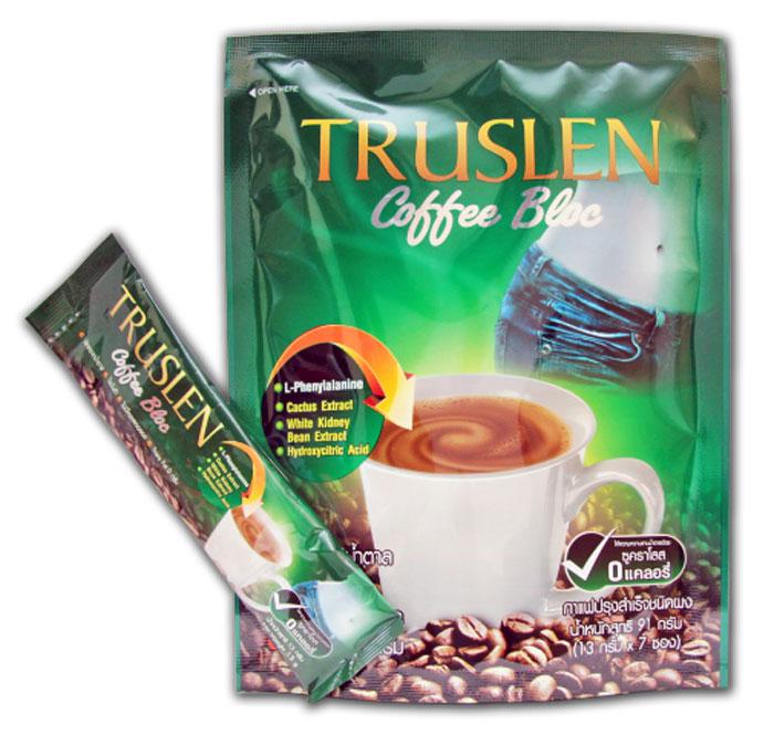 Truslen Coffee Bloc кофейный напиток, 7 шт2317Полезный, быстрорастворимый напиток Truslen Coffee Bloc, позволяющий контролировать массу тела. Не содержит сахара, консервантов, стабилизаторов, красителей и эмульгаторов. Входящие в состав растительные ингредиенты способствуют подавлению аппетита, препятствуют отложению жира и холестерина.